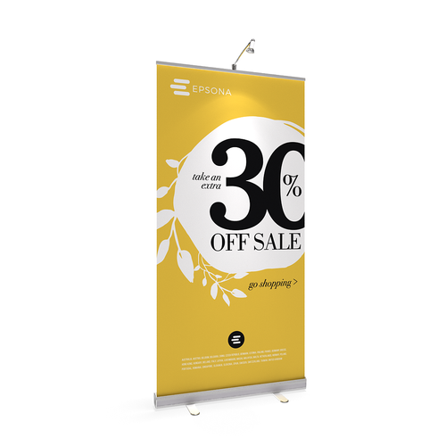 BrandStand 1 Rollup Retractable Banner Stand Silver