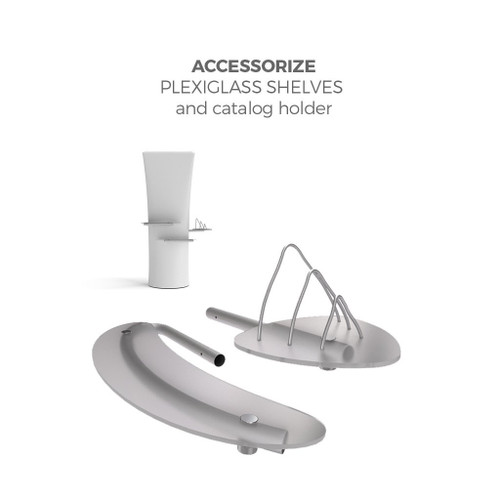 Plexiglass Shelves and Catalog Holder Kit