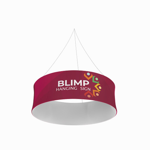 Blimp Tube 15ftWx48H Fabric Graphic Overhead Hanging Banner System