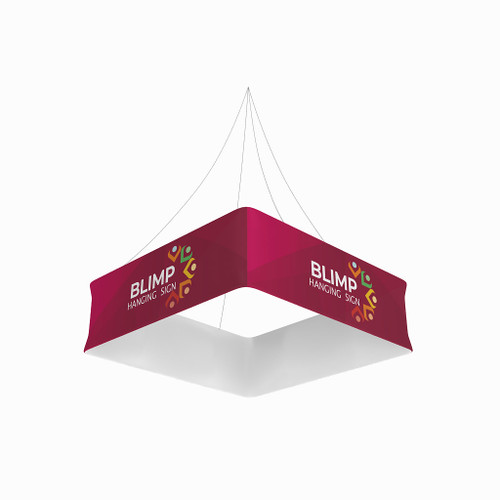 Blimp Quad 10ftWx48H Fabric Graphic Print, Single-Sided