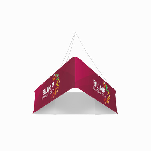 Blimp Trio 10ftWx48H Fabric Graphic Print, Single-Sided