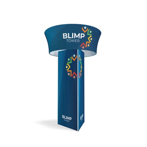 Blimp Triangular Tower with Blimp Tube Tapered 10ftx48 Rotating sign (BLIMP-KG-TWT1048)
