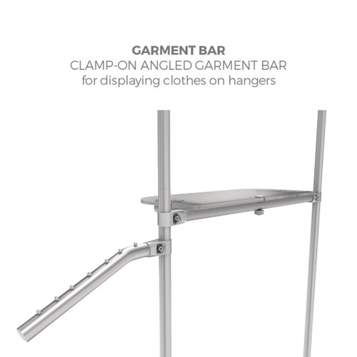 Mercahndiser Garment Angled Bar w/Rivets (WLM-P-89)