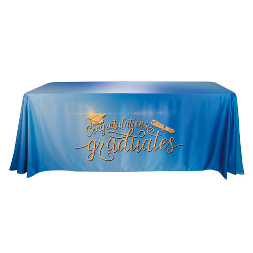 Table Cover Draped 6ft, 4-sided w/Closed Back (TC-G-6X4)