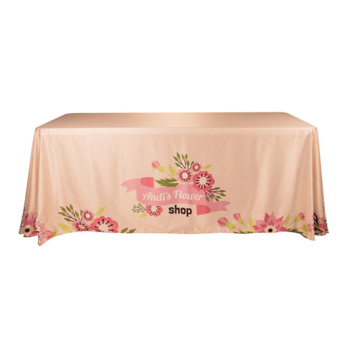 Table Cover Drape 6ft, 3-sided w/Open Back (TC-G-6X3)