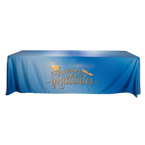 Table Cover Drape 8ft, 4-sided - w/Closed Back (TC-G-8X4)