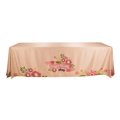 Table Cover Drape 8ft, 3-sided - w/Open Back (TC-G-8X3)