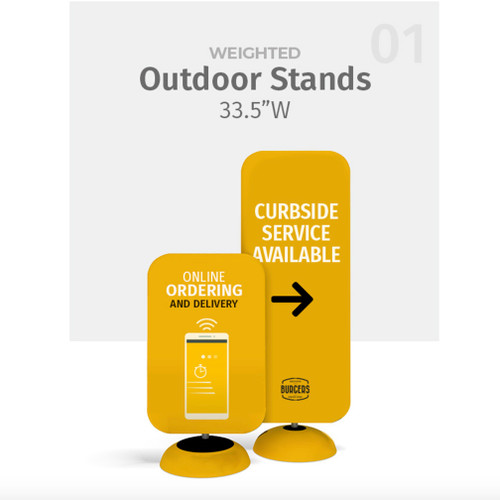 "47.2""h WaveLine® Outdoor Poster Stands Double-sided"