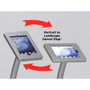 Portable iPad Kiosk Curved w/ Graphics Shown