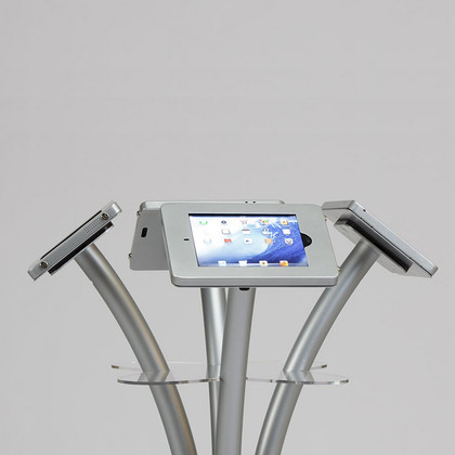 Four Way Portable iPad Kiosk by Best Tradeshow Display