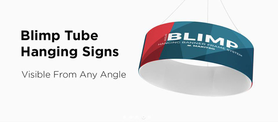 Blimp Tube Hanging Sign System by Best Tradeshow Display