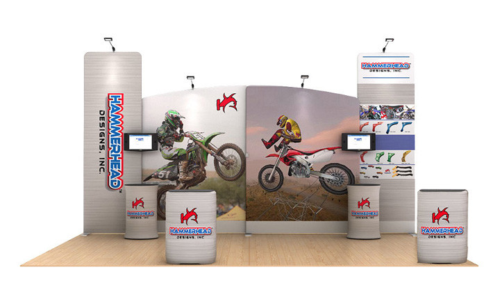 Modular Waveline Trade Show Media Display Kits, Free Ground Shipping by Best Tradeshow Display