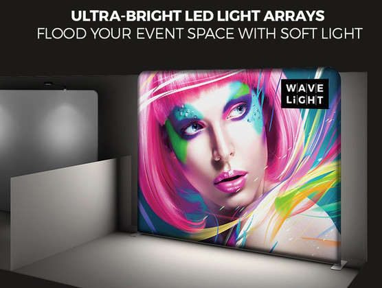 WaveLight 10ft Flat LED Lightbox Display by Best Tradeshow Display