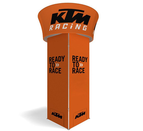 Blimp Squared Tower with Blimp Tube Tapered Sign by Best Tradeshow Display