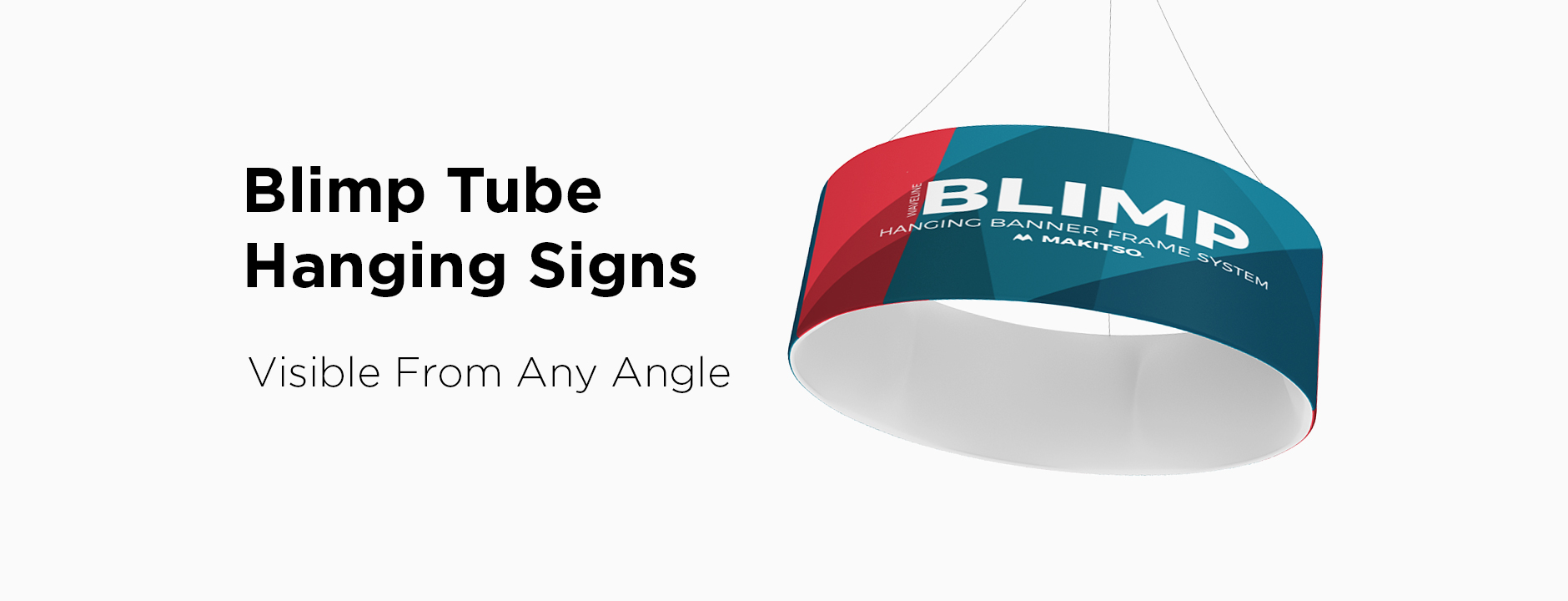 Shop Blimp Tube Hanging Signs