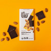 Theo Salted Almond 70% Dark Chocolate Bar unwrapped