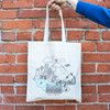 Theo Cityscape Canvas Tote Bag lifestyle 1
