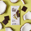 Theo Coconut 70% Dark Chocolate unwrapped