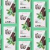 Theo Mint 70% Dark Chocolate Bar in grid on green background