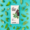 Theo Mint 70% Dark Chocolate Bar with mint leaves