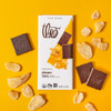Theo Ginger 70% dark chocolate unwrapped