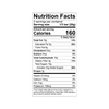 Theo Ginger 70% dark chocolate Nutrition Facts