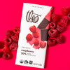 Theo Raspberry 70% Dark Chocolate ingredient