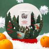 Theo Cranberry Orange 70% Dark Chocolate in Snowglobe