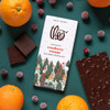 Theo Cranberry Orange 70% Dark Chocolate with ingredients