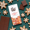 Theo Chocolate Gingerbread Spice 45% Milk Chocolate Bar with Gingerbread Cookies