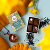Theo Chocolate Spring Tea Ganache collection open box with tea and flowers