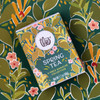 Theo Chocolate Spring Tea Ganache collection box pattern feature