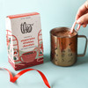 Peppermint Drinking Chocolate 55% Dark Chocolate with ingredients with Theo Mug