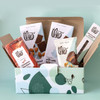 Milk Chocolate Lover chocolate bars, candy and confections in blue and green gift box