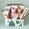 Sweet & Salty contents in green and blue gift box