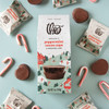 Theo Chocolate Peppermint Cocoa Cups, 8 pc box with ingredients