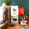 Theo Chocolate Peppermint Cocoa Cups, 8 pc box gifting