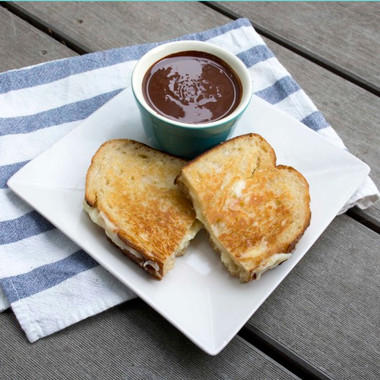 Theo Chocolate & Beecher's Grilled Cheese Sandwich