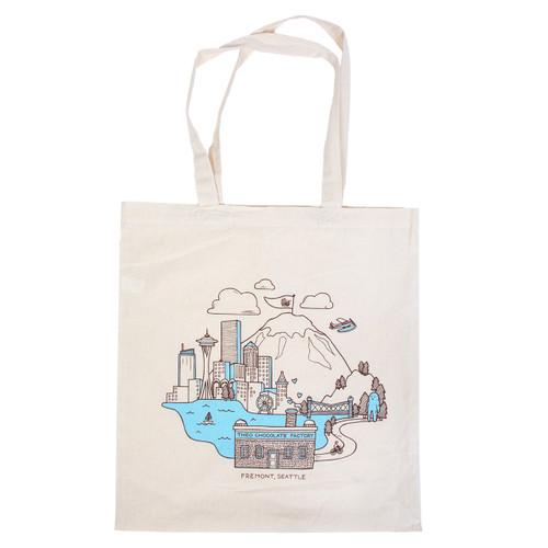 Theo Cityscape Canvas Tote Bag