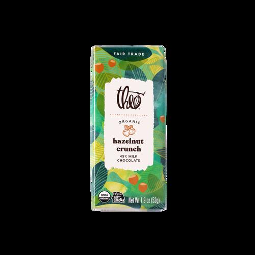 Theo Hazelnut Crunch 45% Milk Chocolate Bar, 1.9 oz