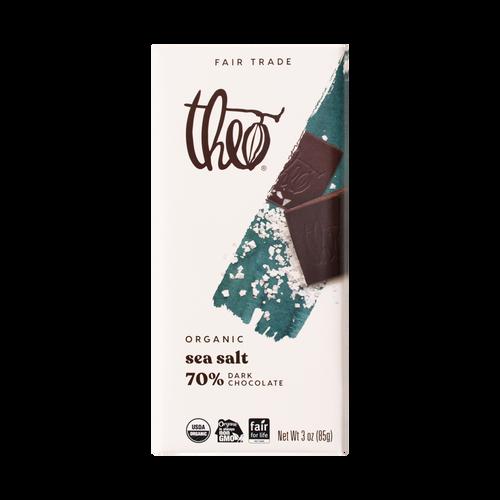 Theo Sea Salt 70% Dark Chocolate, 3 oz