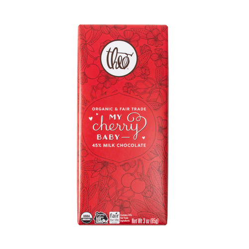Theo My Cherry Baby 45% Milk Chocolate 3 oz Bar