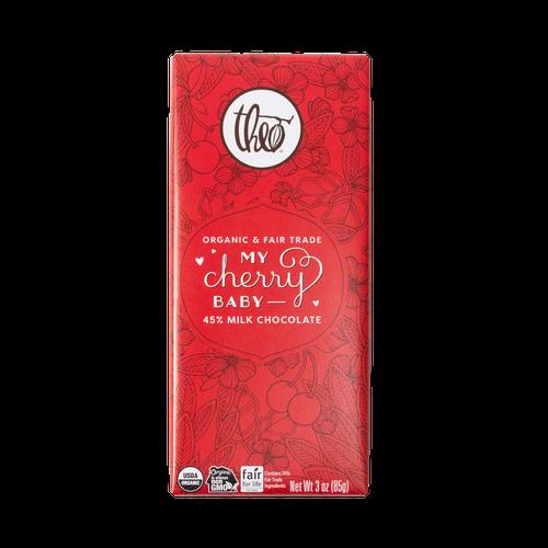Theo My Cherry Baby 45% Milk Chocolate 3 oz Bar