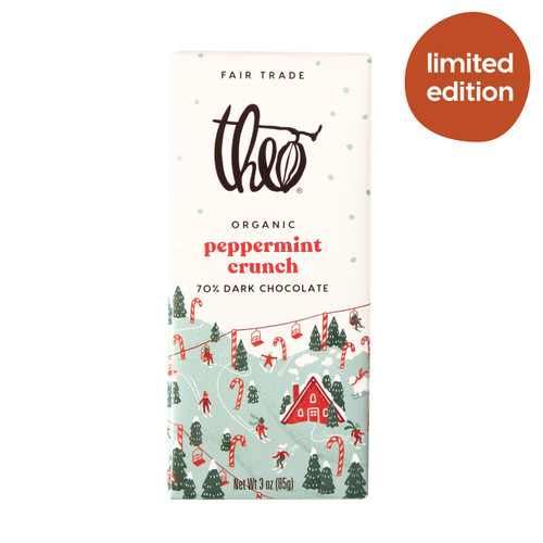 Theo Peppermint Crunch 70% Dark Chocolate