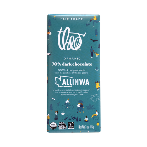 Theo All In Washington Partnership Bar 70% Dark Chocolate