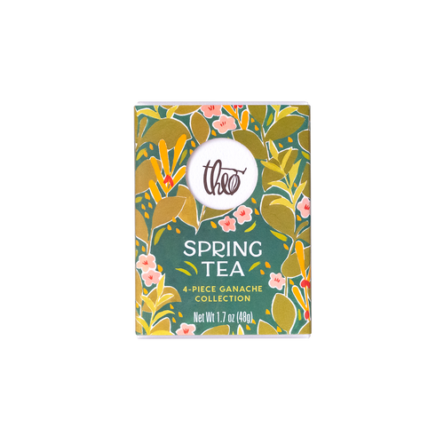 Theo Chocolate Spring Tea 4-piece ganache collection
