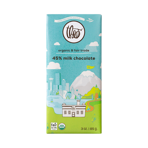 Theo Seattle Bar 45% Milk Chocolate, 3 oz