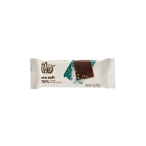Theo Sea Salt 70% Dark Chocolate, 1 oz