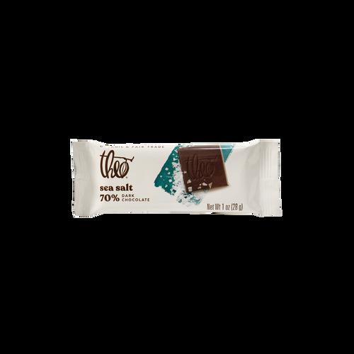 Theo Sea Salt 70% Dark Chocolate, 1 oz