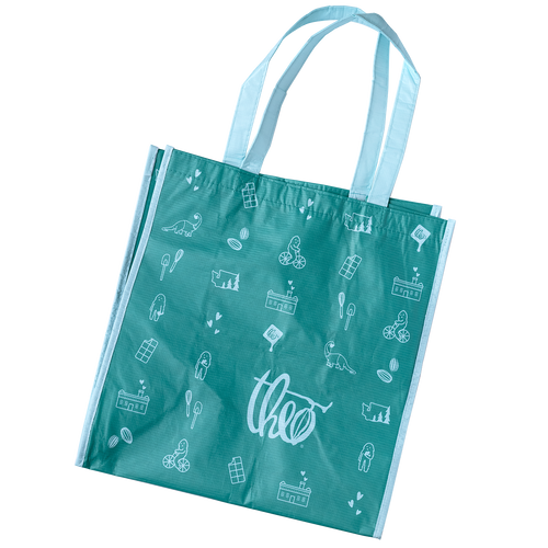 Theo Reusable Grocery Tote Bag - Teal